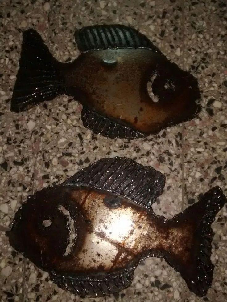 adorno peces p/ colgar de metal