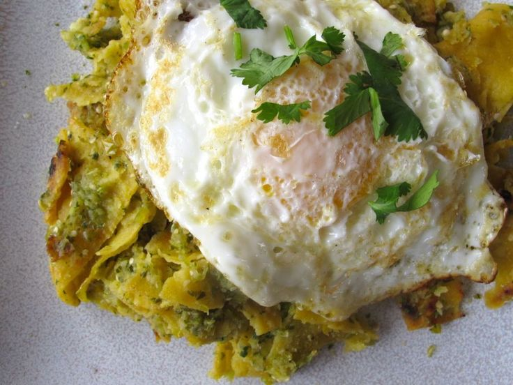... with balsamic fried eggs chilaquiles with fried eggs real simple
