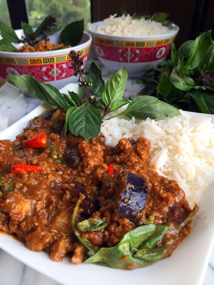 vegan spicy thai basil beef with eggplant vegan beef thai basil ...