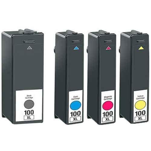 Lexmark No.100XL Combo Pack Ink Cartridge - Cyan/Magenta/Yellow4 Brand new Compatible (color: 1x Black, 1x Cyan, 1x Magenta, 1x Yellow) Printer Ink Cartridge for LEXMARK / Pro205 Pro2705 Pro805 Pro905 Pro901 Series Printer Models by BVH Direct 100XL S305 S405 S505 S605 S815 S816 - Ink Cartridges to Replace Lexmark 100 / 100XL (Black, Cyan, Magenta, Yellow) By BVH Direct ******FREE SHIPPING*****  - http://ink-cartridges-ireland.com/lexmark-no-100xl-combo-pack-ink-cartridge-cya