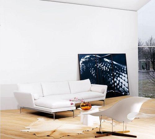Đơn giản nhưng đầy cuốn hút với ghế sofa trắng