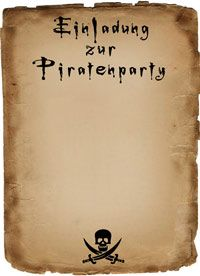 Eine Piratenparty Zum Kindergeburtstag? Hier Finden Sie Eine Einladungskarte,  Ideen Und Spiele Für Kleine Piraten Mit Viel Spass Und Action!