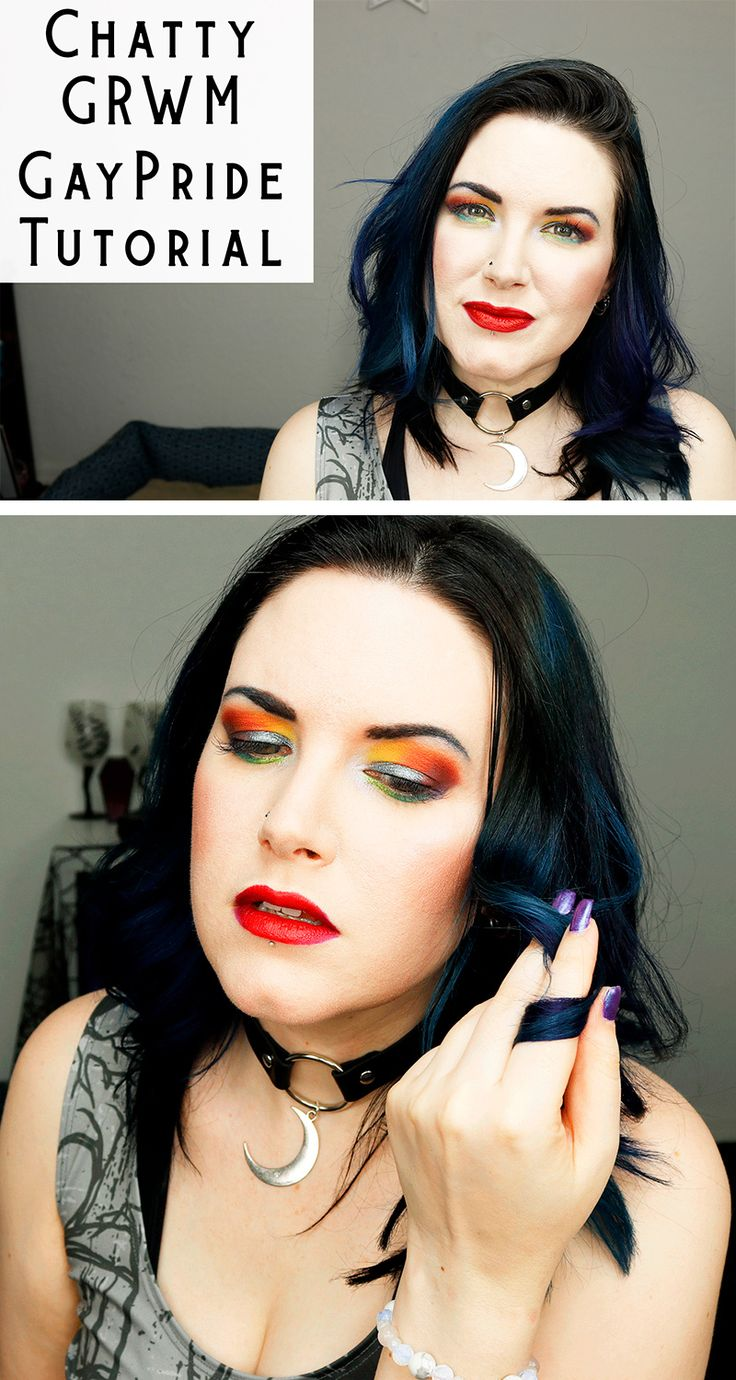 Chatty GRWM Rainbow Pride Makeup Tutorial - I used mostly Urban Decay makeup in this video, but I also used some Kat Von D, the Ordinary Serum Foundation and primer, as well as Nyx Cosmetics.