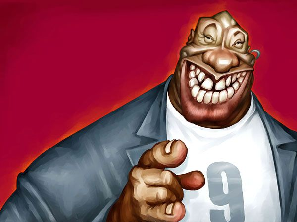 Michael Clarke Duncan | 29 Celebrity Caricatures That Are Incredibly Accurate