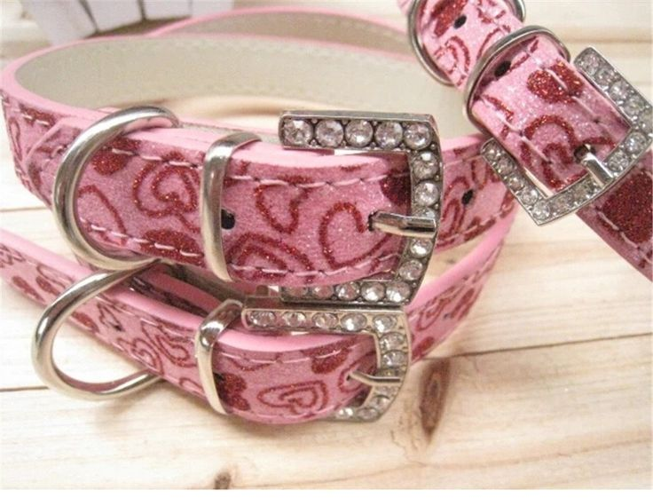 Bling Dog Collar, catBABA PU Leather Glitter Crystal Rhinestone Metal Buckle Adjustable Collar for Dogs -- Hurry! Check out this great product : Cat Collar, Harness and Leash