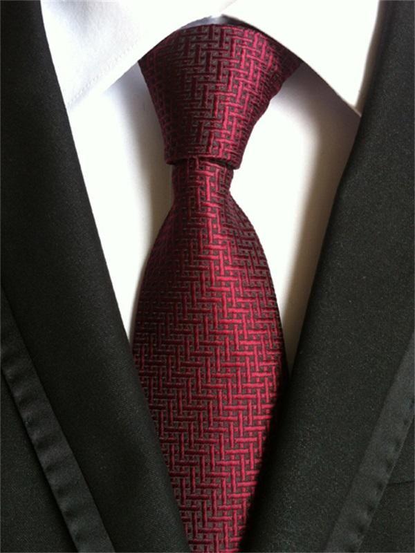 New Men/'s Formal stripes polyester Neck Tie necktie burgundy party prom wedding