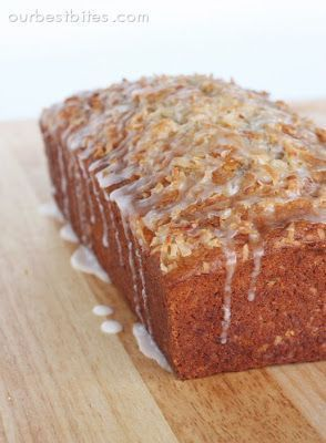 Coconut Banana Bread with Lime Glaze Recipe, Amazing Treat And Great Gift from Our Best Bites.