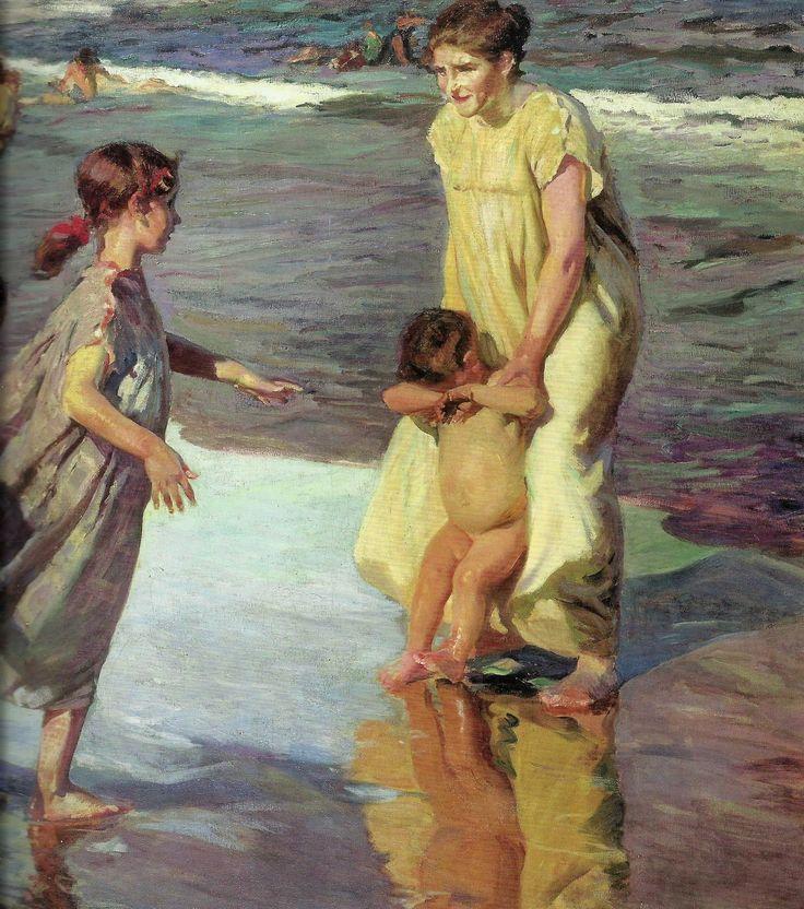 Madre e hija. Playa de Valencia, 1916, Joaquín Sorolla
