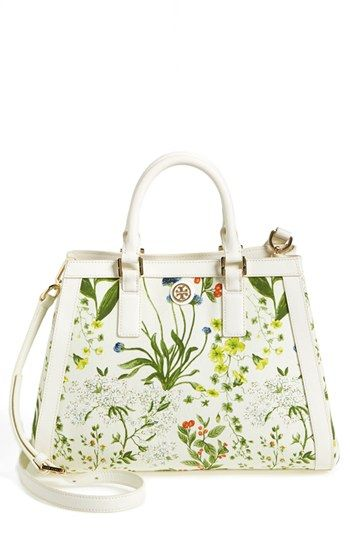 Tory Burch 'Robinson' Canvas Triangle Tote available at #Nordstrom