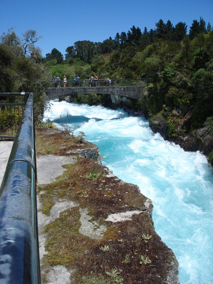 Huka Falls is a stunning spot. And part of a hydro electric system.