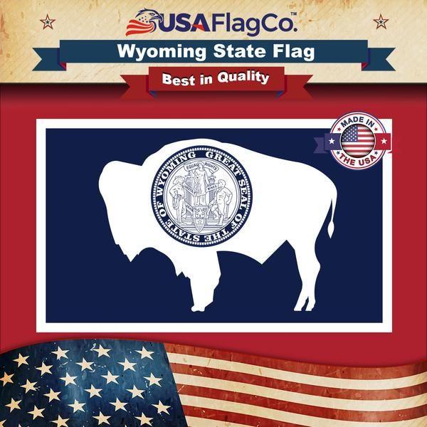 Wyoming State Flag Wyoming Flag State Flags Flag