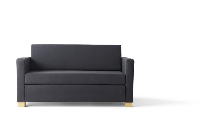 SOLSTA 2-zits slaapbank | #IKEAcatalogus #nieuw #2017 #IKEA #IKEAnl #woonkamer #slaapkamer #logeerkamer #bank #bed #donkergrijs