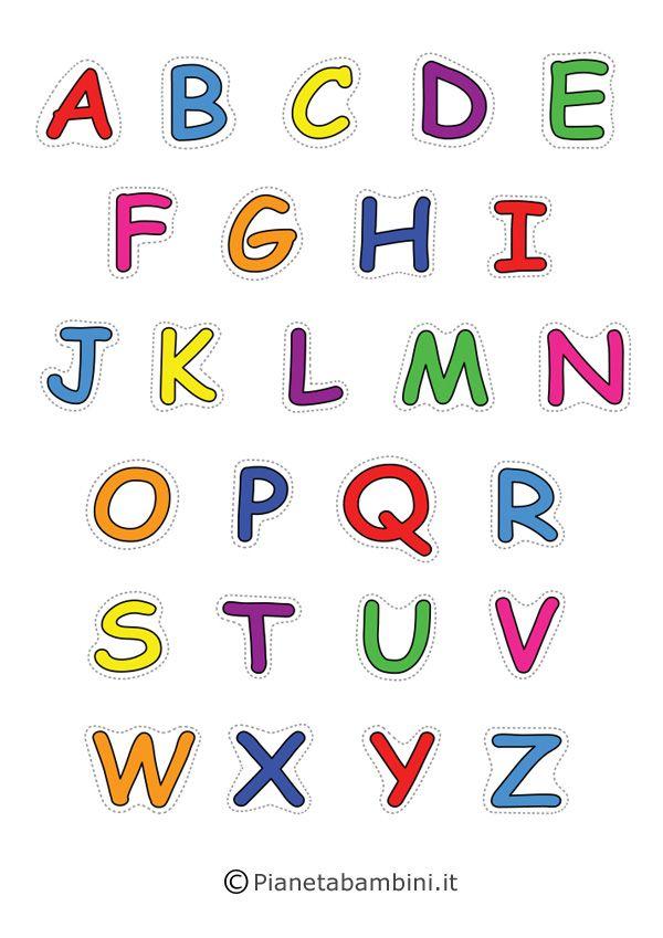 Lettere Dell Alfabeto Da Stampare Colorare E Ritagliare Primo