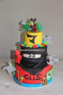 lekker zoet: Lego Ninjago taart voor Gijs 7 jaar geworden...