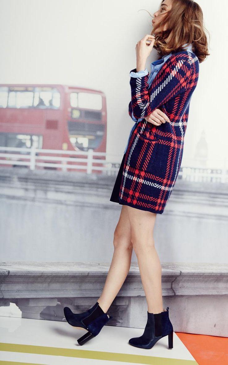 Beautiful checked tartan cardigan, perfect for AW15 #fbloggers #fashionbloggers #fashion #aw15
