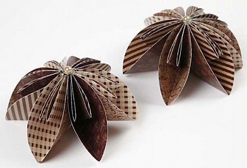 11959 Bloem van origami papier