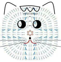Cat applique. FREE CHART.