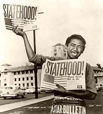 Hawaii became the 50th state of the United States on August 21, 1959.