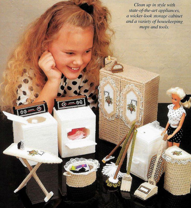 Fashion Doll Dream House Laundry Room Plastic Canvas