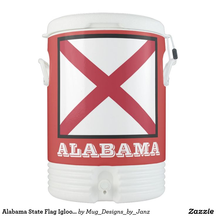 Alabama State Flag Igloo Cooler by Janz