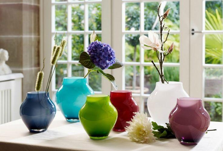 Leuke vaasjes in verschillende kleuren. Villeroy & Boch Oronda. #woondecoratie #bloemen