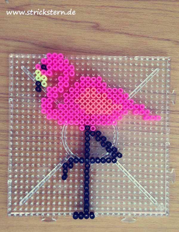 Bügelperlen Steckplatte Flamingo