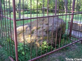 Rock in a cage - Lindsborg, KS