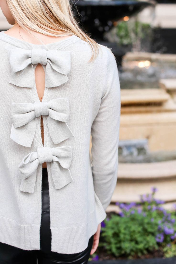 Club Monaco Bow Sweater // Charmingly Styled