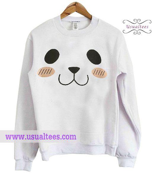 Cute Panda Face Sweatshirt