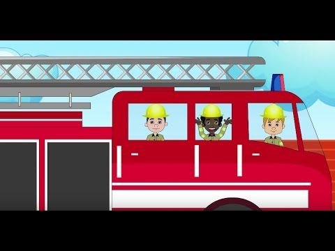 Fire Truck Song for Children and Kids | Cartoon, Fireman Nursery Rhymes | Patty Shukla - YouTube