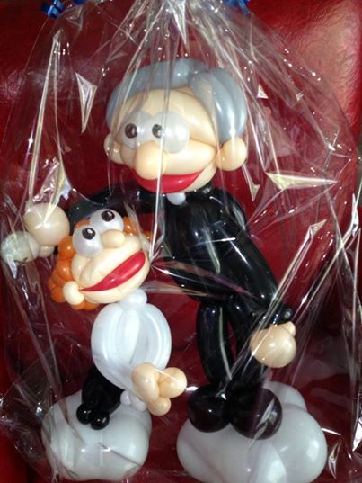 A #balloon sculpture commemorating a First Communion? Yeah, we do that!   www.spiralspiritballooncompany.com