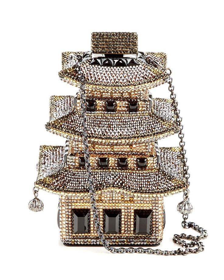 Judith Leiber 'Pagoda' Clutch, I bet this cost about as much as all the tea in china! LOL, but It is so different as her bags are!
