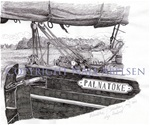 """""""Palnatoke"""", an old, danish wooden ship. Ink drawing 2011 by Naja Abelsen. Available as A3-photoprint 400 DKK / 54 Euro.  STUDIES OF REALITY - www.123hjemmeside.dk/NajaAbelsen"""