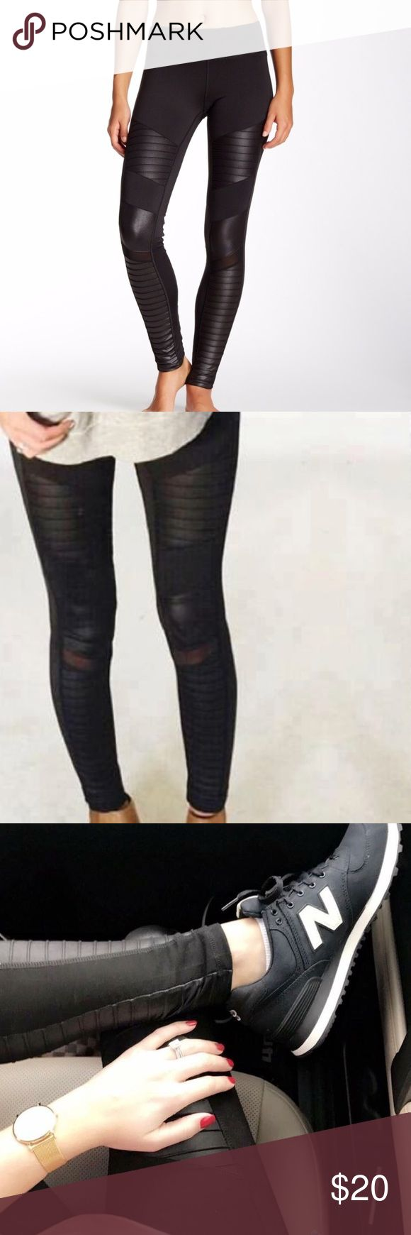 BLACK MOTO LEGGINGS Typically run a little bit on the smaller side. Size M fit more like a small. NWT.  •Apricot Lane Boutique LA Society Pants Leggings