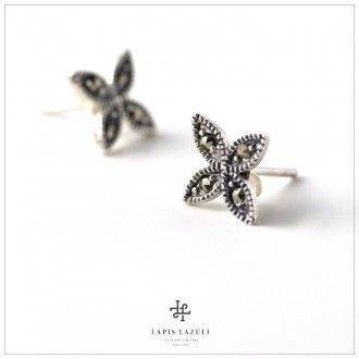 Marcasite Cross Earring