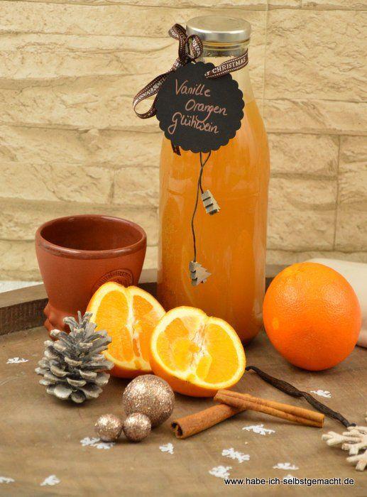 Orangen Vanille Glühpunsch