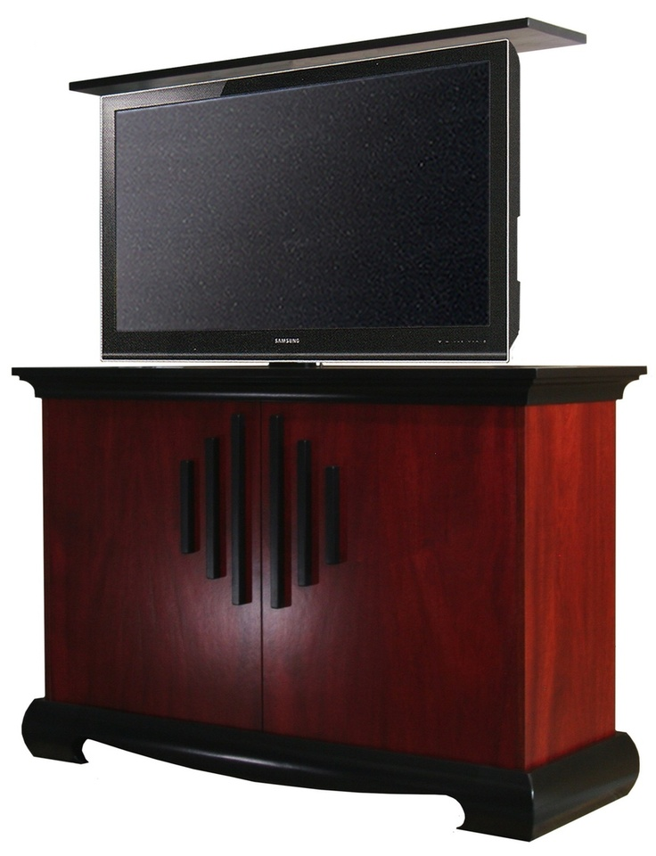 harmony tv lift cabinet by the wood extension on