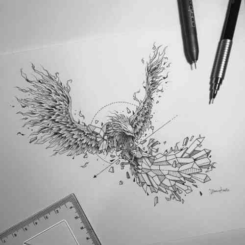 tatouage phoenix significations et id es en images ink. Black Bedroom Furniture Sets. Home Design Ideas