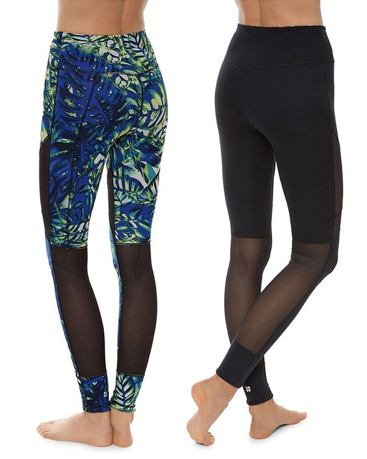 Go bold in tropical prints or reverse to black for easy styling. The reversible leggings of the moment are here.
