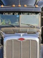 Jason Aldean 2012 My Kinda Party Tour Album - Semi Trucks with song lyrics in the windshield.