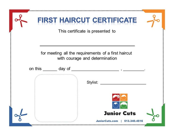every first haircut at junior cuts receives a