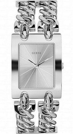 Наручные часы броские и вызывающие, созданные специально для современной женщины. Прямоугольный корпус и браслет, стилизованный под ювелирные украшения из часовой стали.