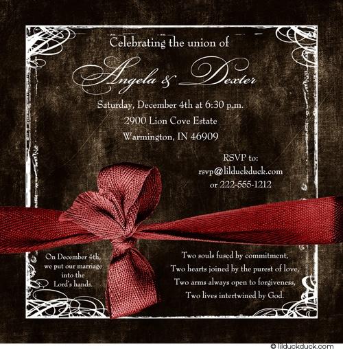 Vintage December Wedding Invitation Modern Photo Design