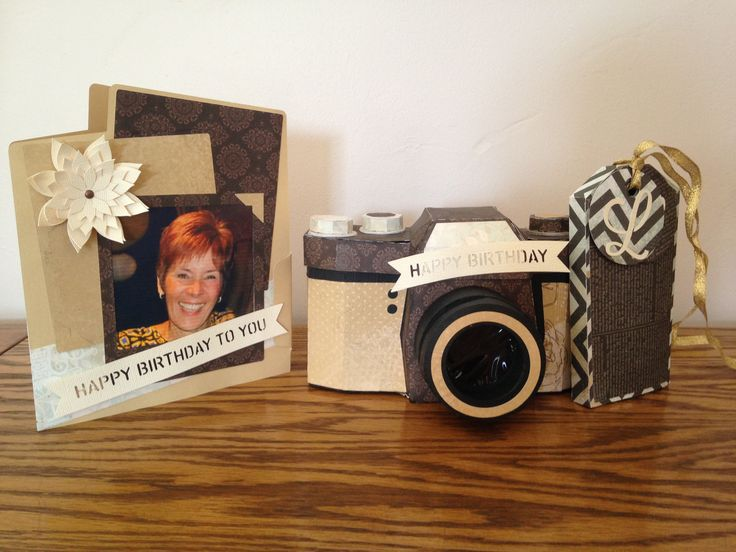 Camera Box , Happy Birthday To You Photo Card and Tag box @svgcuts