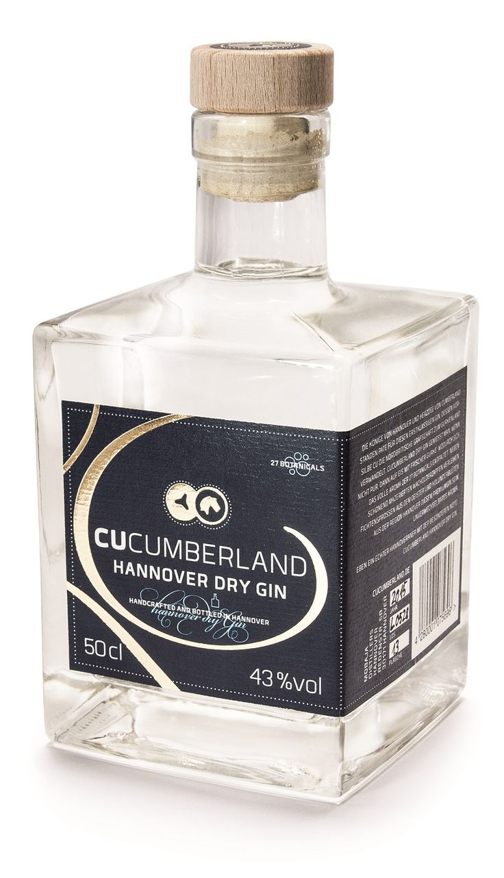 Cucumberland Hannover Dry Gin, gefeatured in unserem Hannover Gin Guide