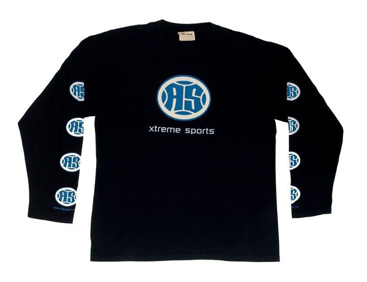 A.S. Xtreme Long Sleeve T-Shirt - Blue Logo (Black)