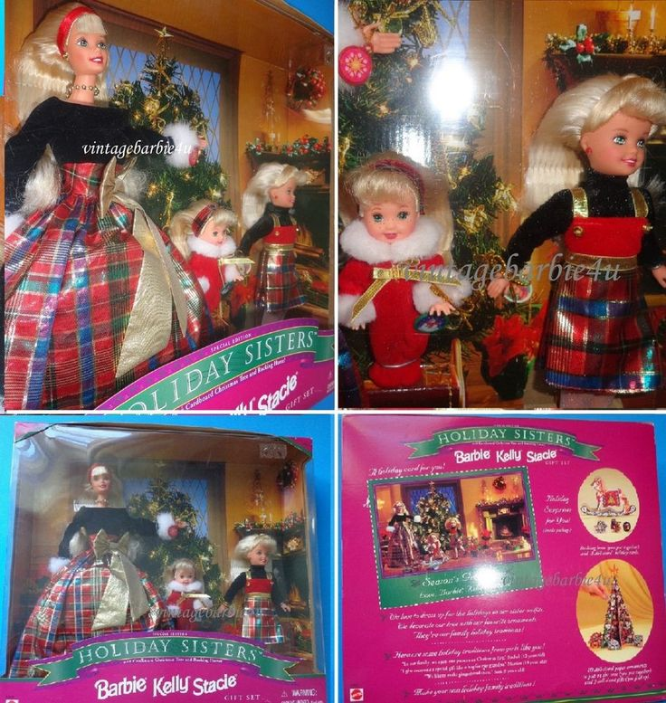 Mattel 1998 Barbie Stacie Kelly Holiday Sisters Barbie Doll Gift Set NEW MINT #Mattel #DollswithClothingAccessories