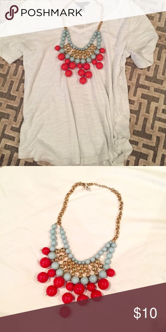 Red aqua and gold bubble necklace NWT Add this fun pop of color to your jewelry box! Jewelry Necklaces