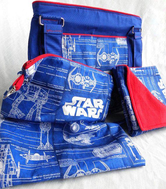 CUSTOM Diaper Bag Set Expedient Diaper Bag by BrookeVanGoryDesigns, $124.99