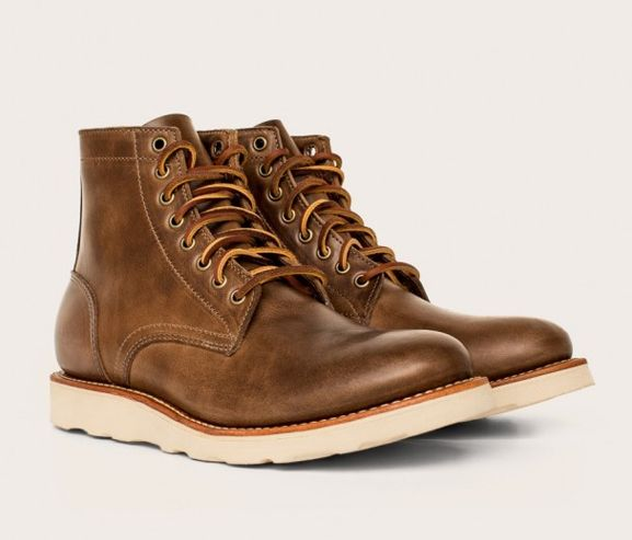 OAK STREET BOOT MAKERS - Natural vibram sole trench boot. Made in the USA.